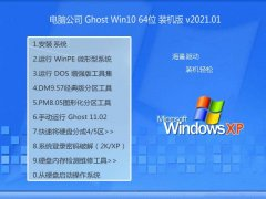 电脑公司Windows10 64位 精选2021元旦装机版