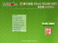 萝卜家园Ghost Win10 64位 绝对装机版 2020.10